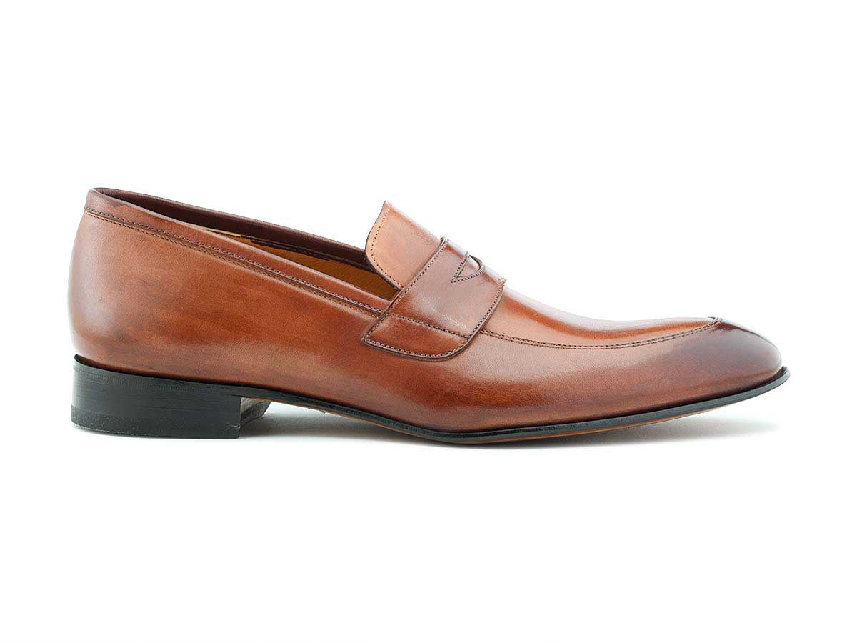 Andre Penny Loafer in Brown Antique & Cuoio
