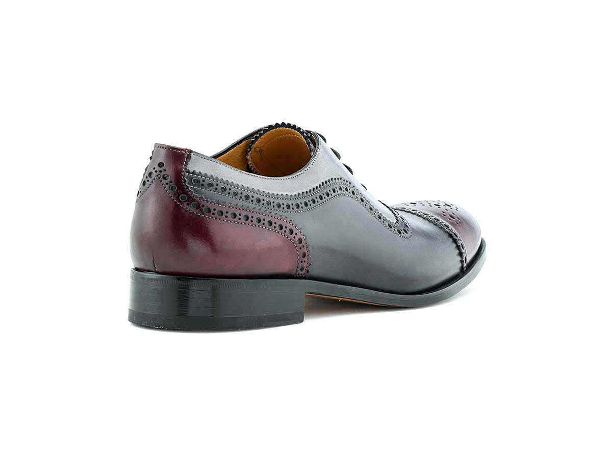 Franco Cap Toe Oxford Wine, Grey Smoke & Pearl
