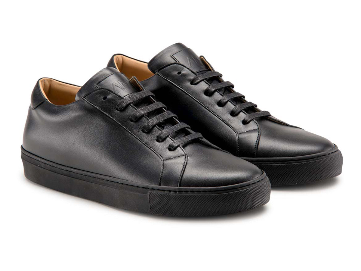 The Duke Sneaker in Black with Black Outsole