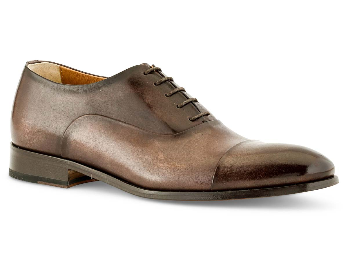 Griffin Oxford Cap Toe in Chocolate Nicol