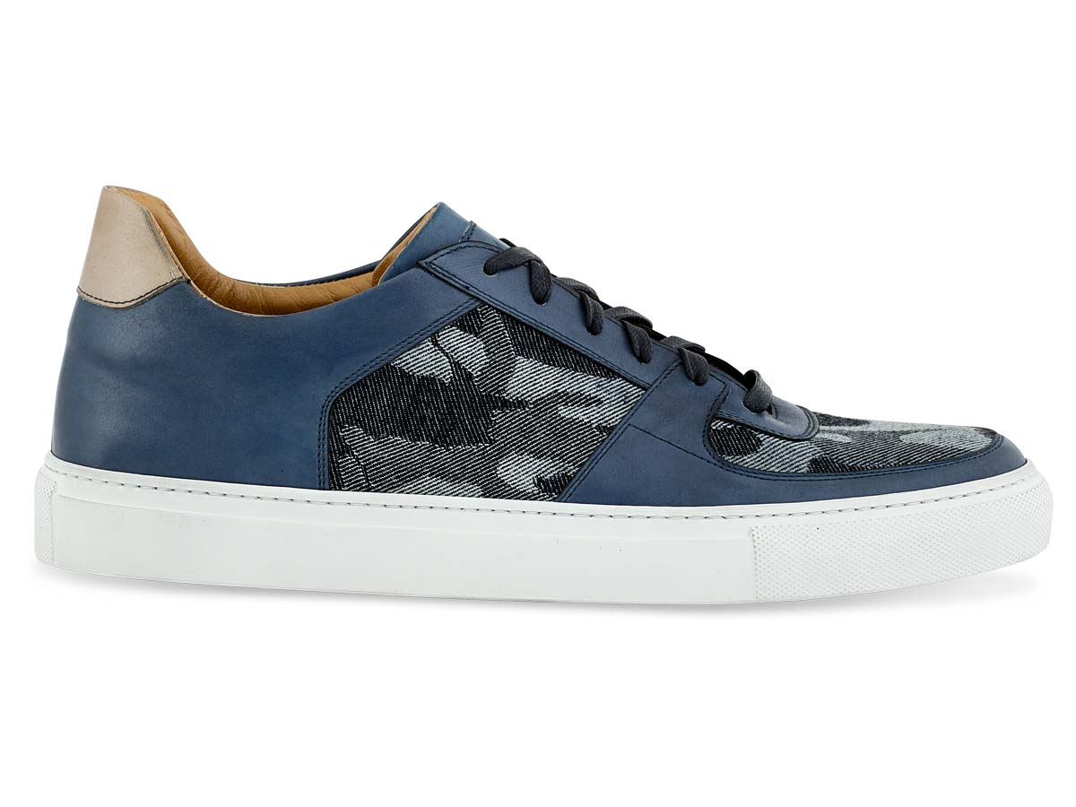 Jesse Dress Sneaker in Blue & Camo