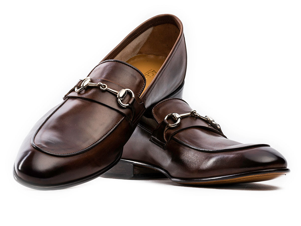 Ricardo Bit Loafer in Walnut Antique