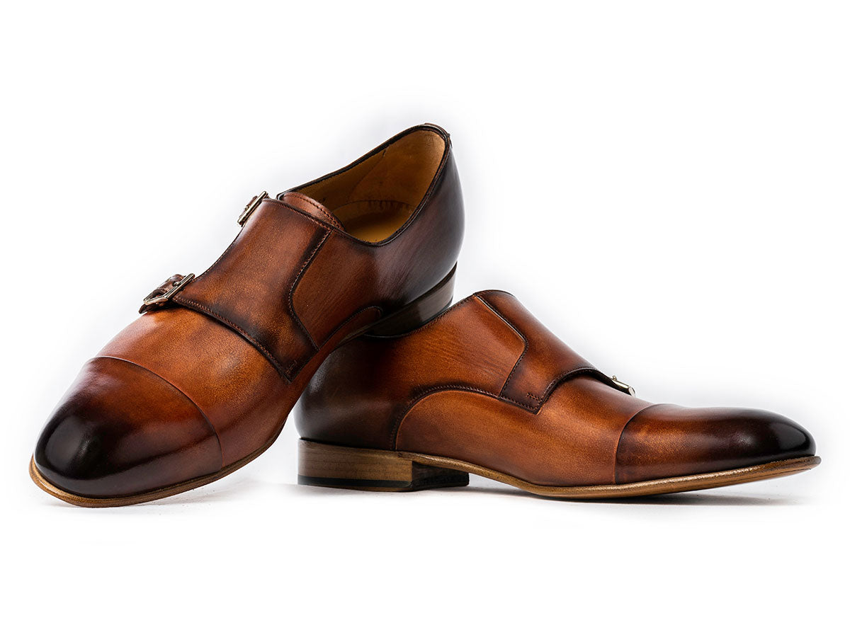 Theo Captoe Monkstrap in Brandy Nicol