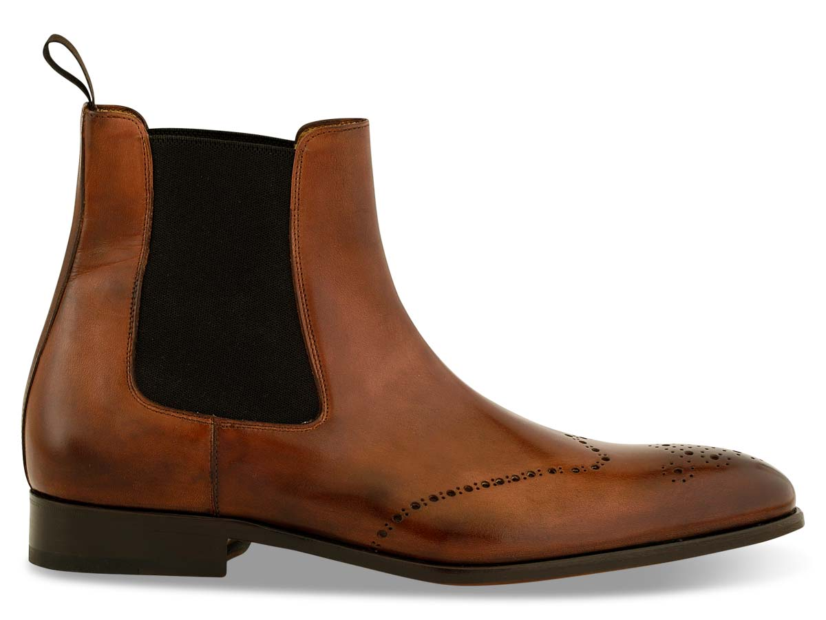 Trevor Chelsea Boot Wingtip in Brown