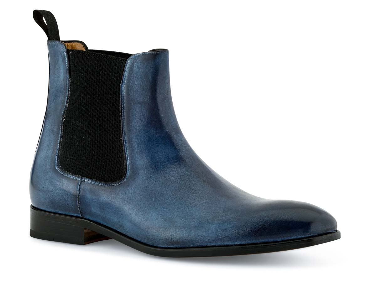 Troy Chelsea Boot in Vela Blue Nicol