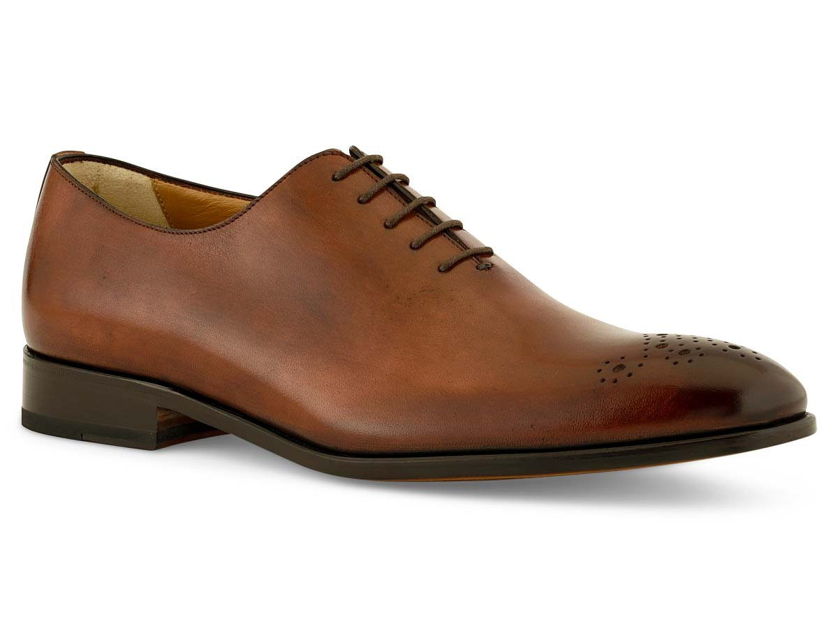 Walter Wholecut Medallion Toe in Brown