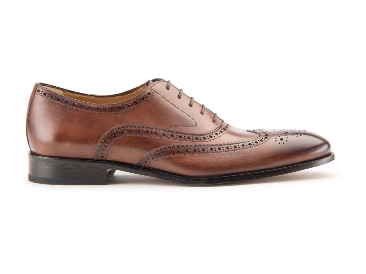 Beto Wingtip Oxford in Brown Antique