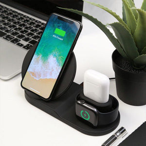 Fast Wireless Charger Holder For Iphone 3 In 1   Wireless Charger Dock Station For Apple Watch Series 1 2 3 4 Airpods