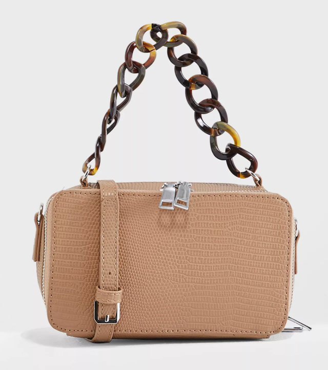 Tortoiseshell Handle Satchel