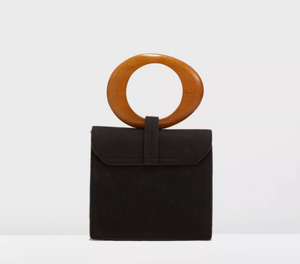 Wooden Handle Satchel