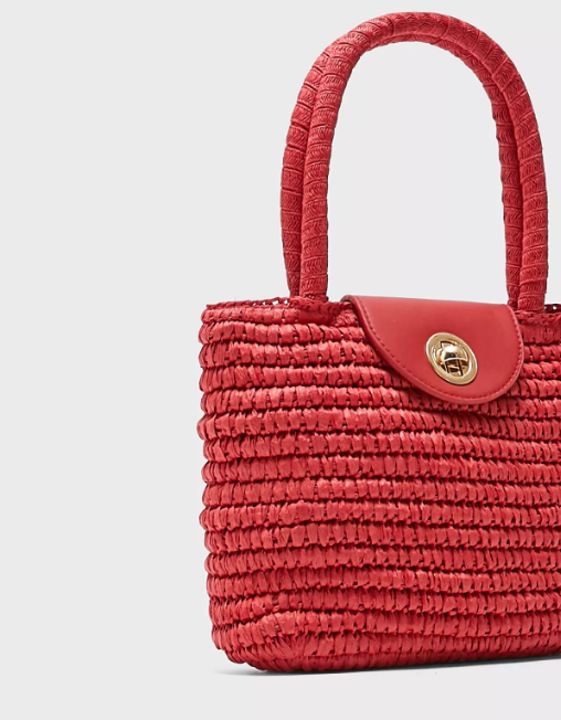 Finch Straw Mini Tote