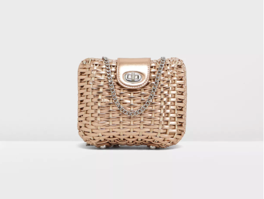 Marbs Structured Straw Crossbody