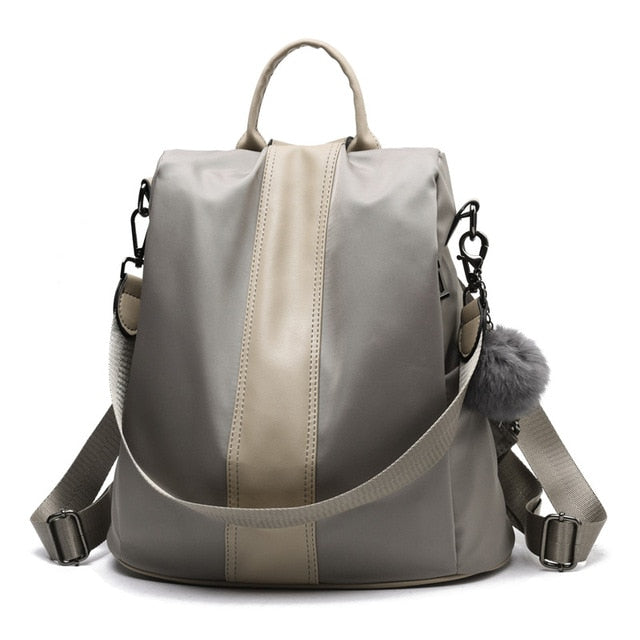 Women Leather Anti- theft Backpack - uideastore