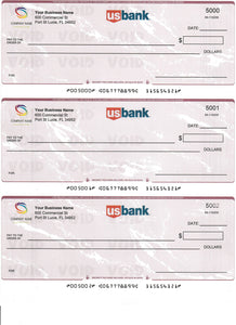 Pre-Printed Business Checks - 3 per Page