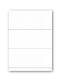 Business Size Blank Deposit Slips