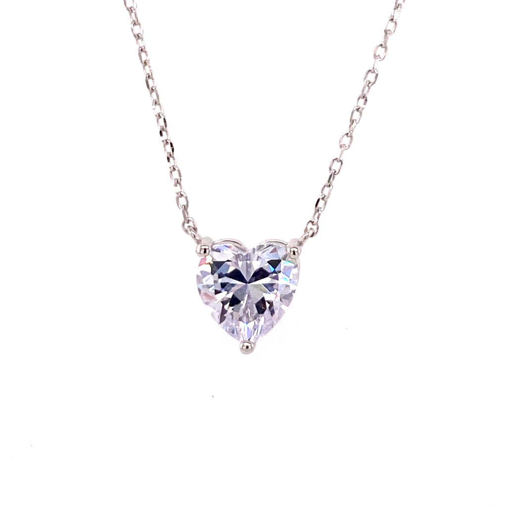 Heart Solitaire Necklace