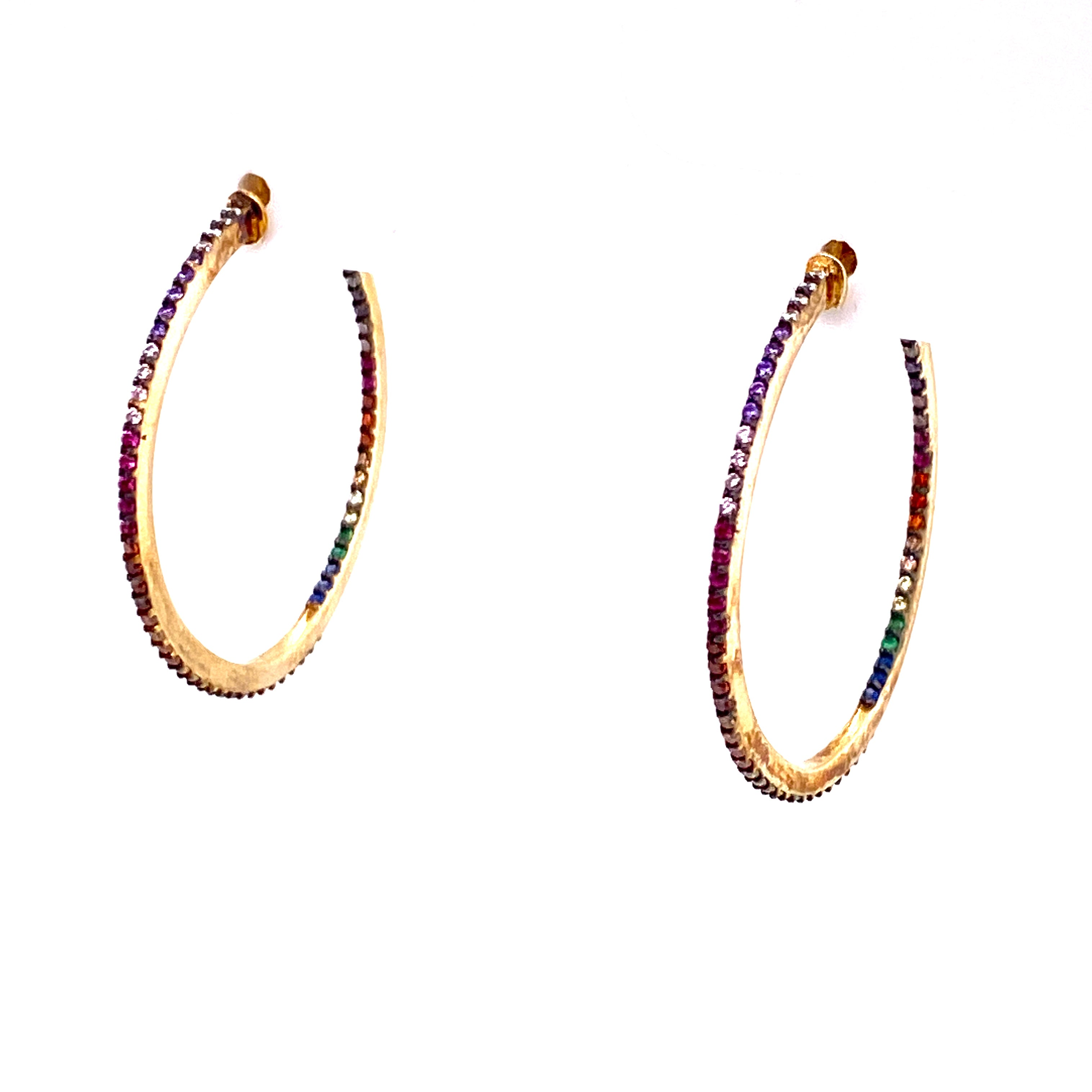 Dainty Light Rainbow Hoops