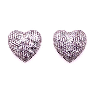Oversized Heart Stud