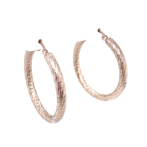 Frosted Metal Swirled Finished Hoops