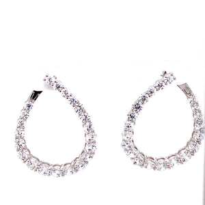 Large Inner Outer Teardrop Earrings