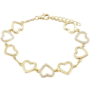 Gold Hearted Bracelet