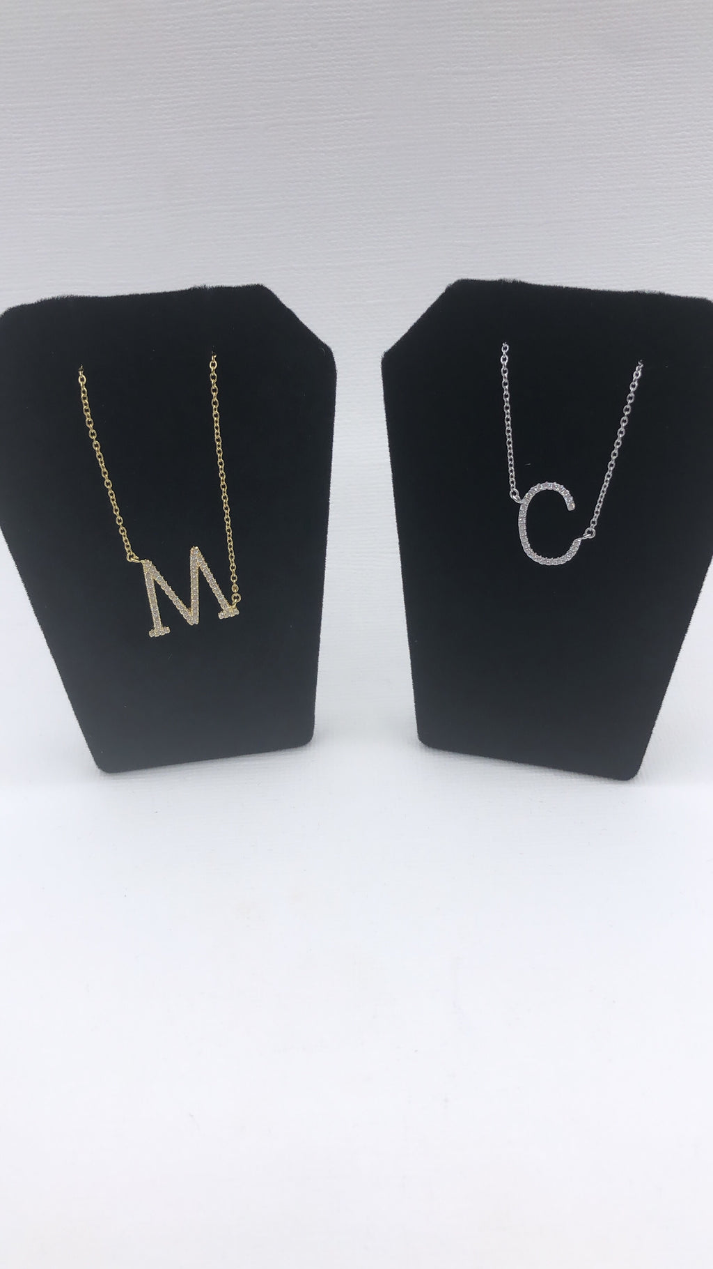 Sterling Silver Personalize Your Own Initial Necklace