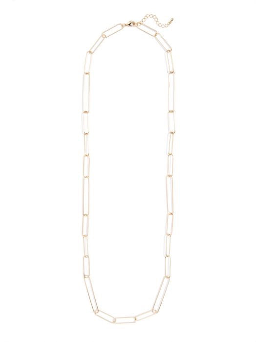 Paper Linked Long Necklace