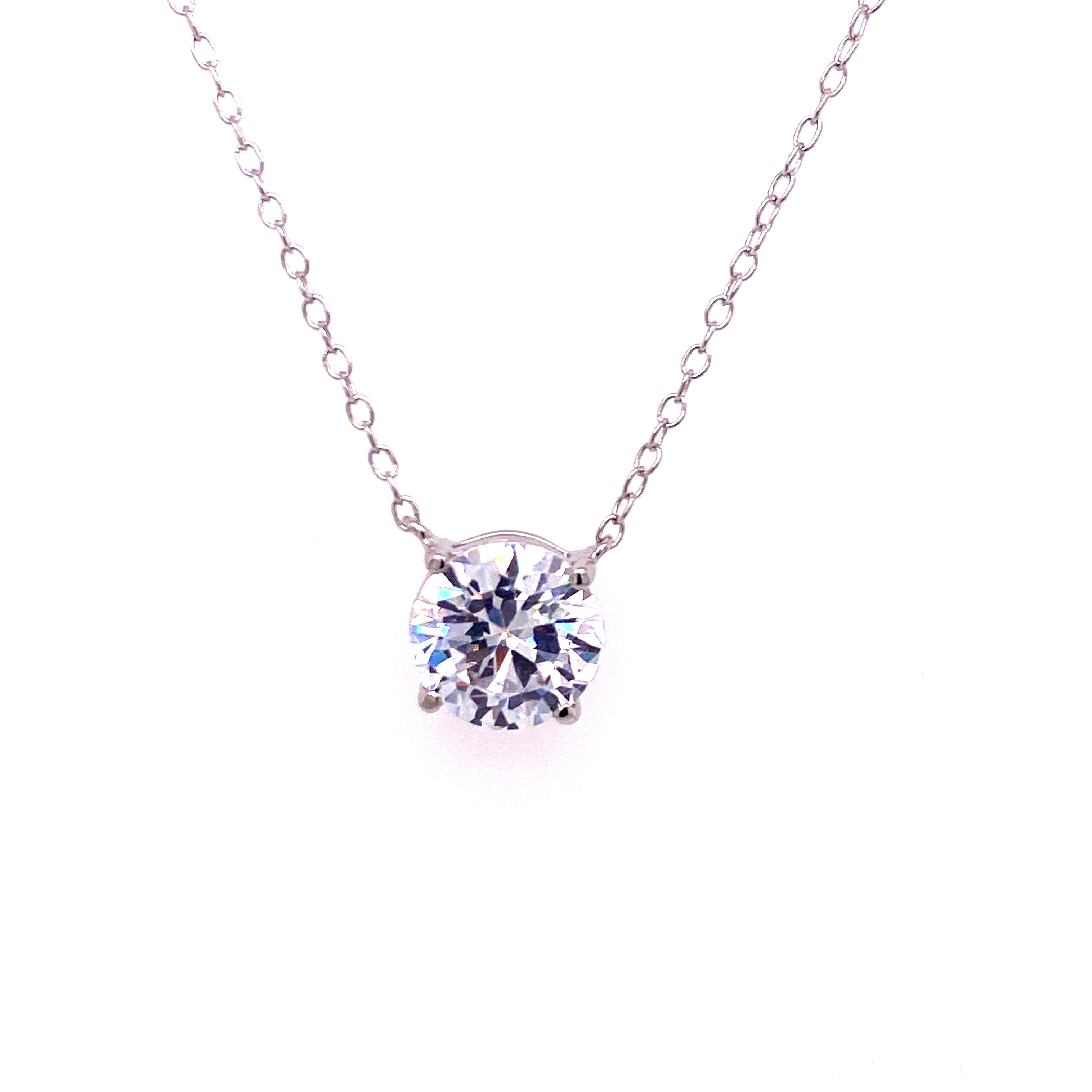 Large Solitaire Necklace