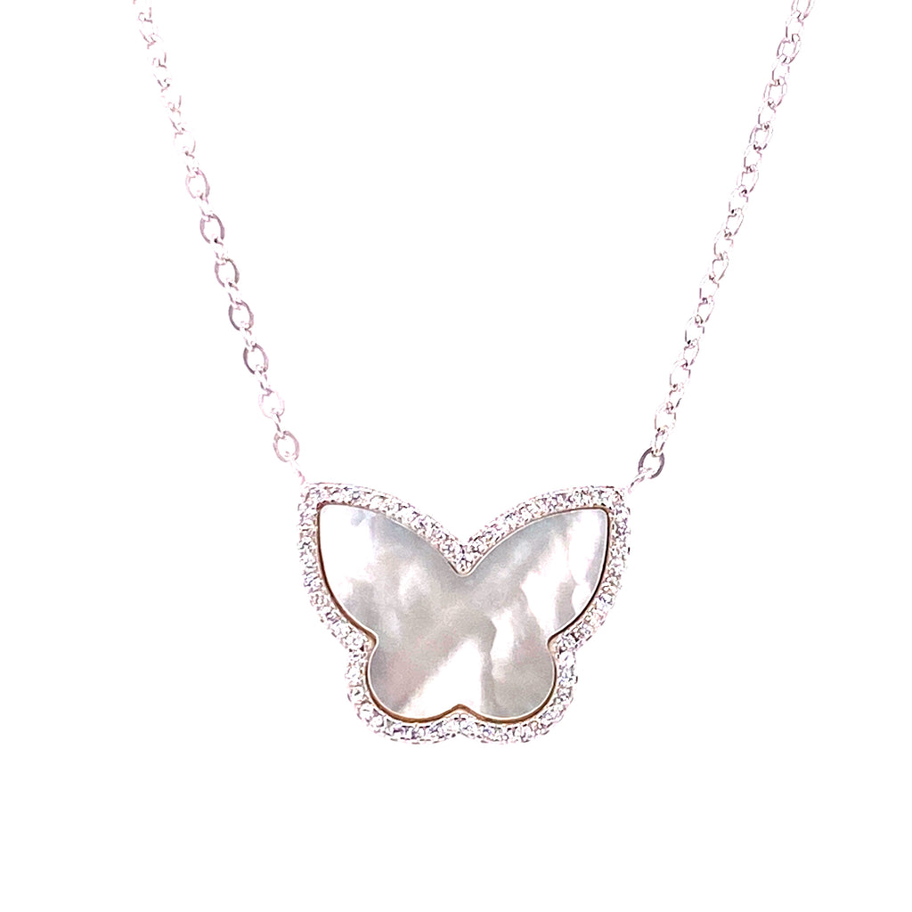 Stone Butterfly Necklace