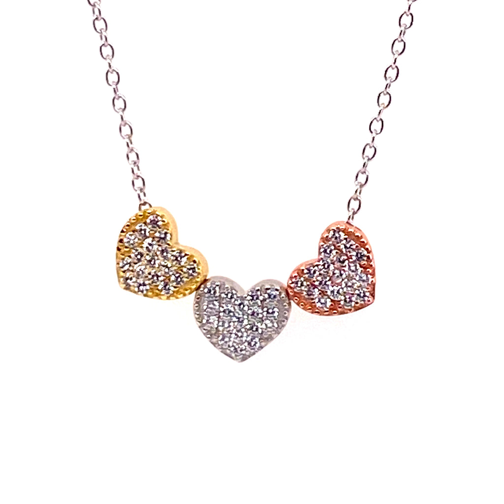 Tricolor Heart Necklace