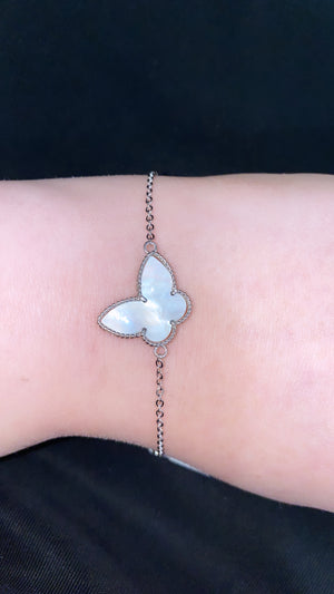 Mother Of Pearl Butterfly Bracelet