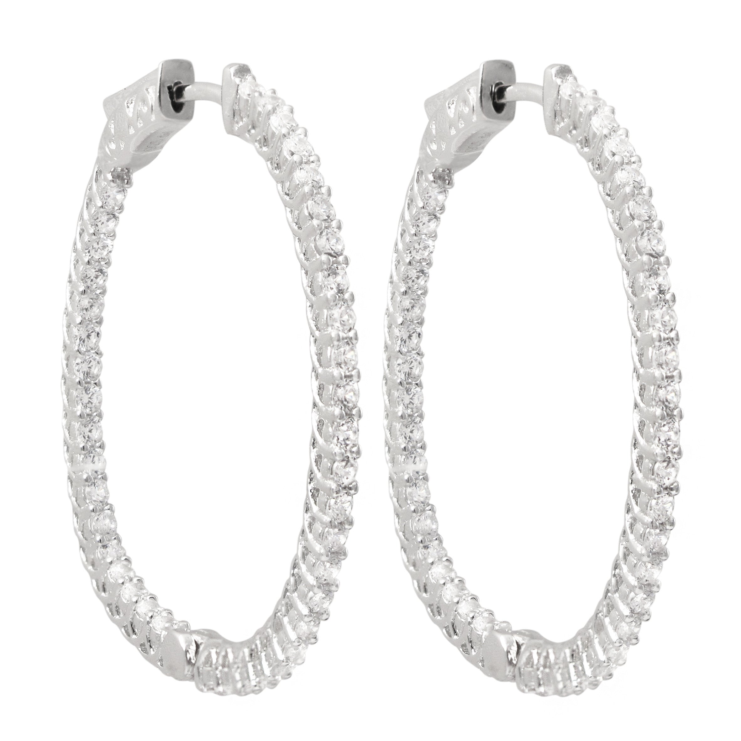 Medium Thin Oval Hoops