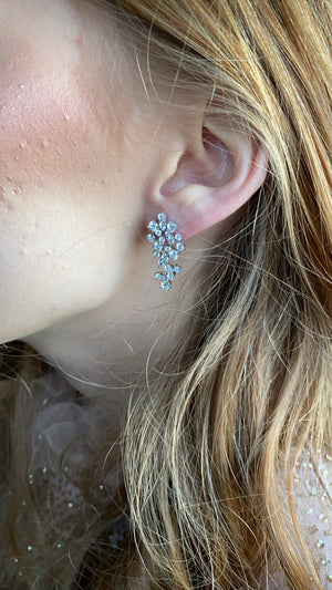 Oversized Cluster Stud Drop