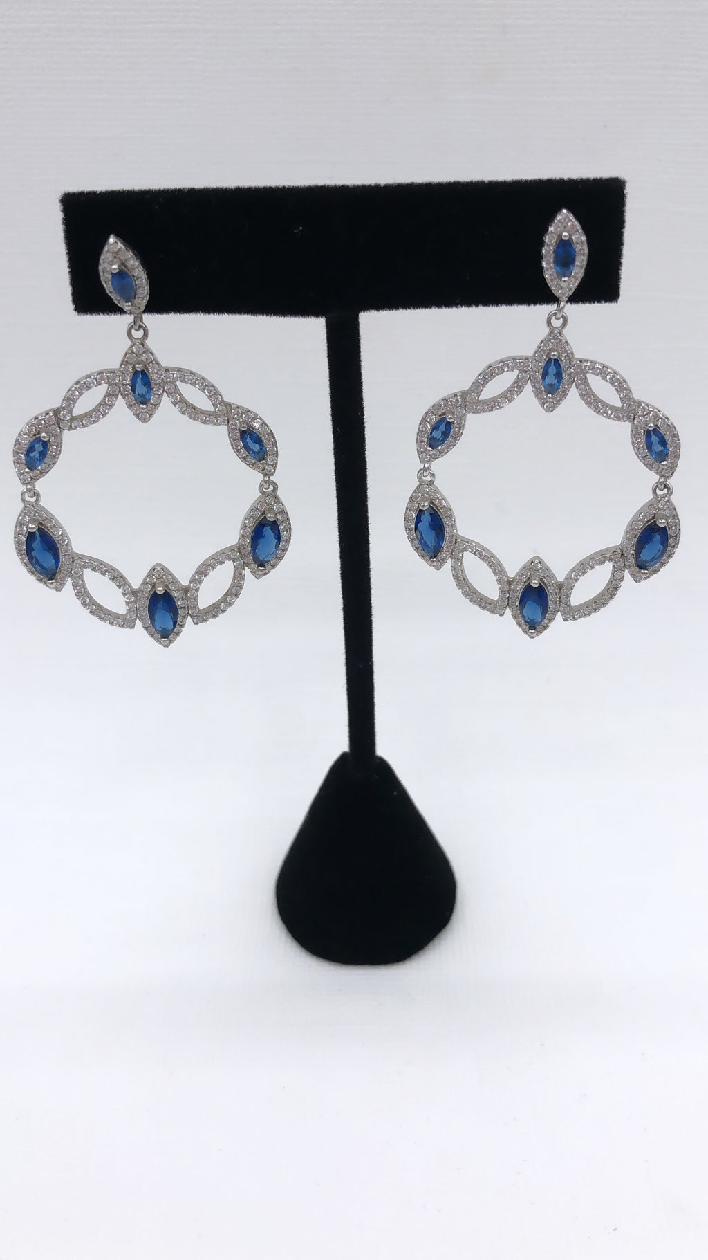Sterling Silver Lightweight Sapphire Earrings