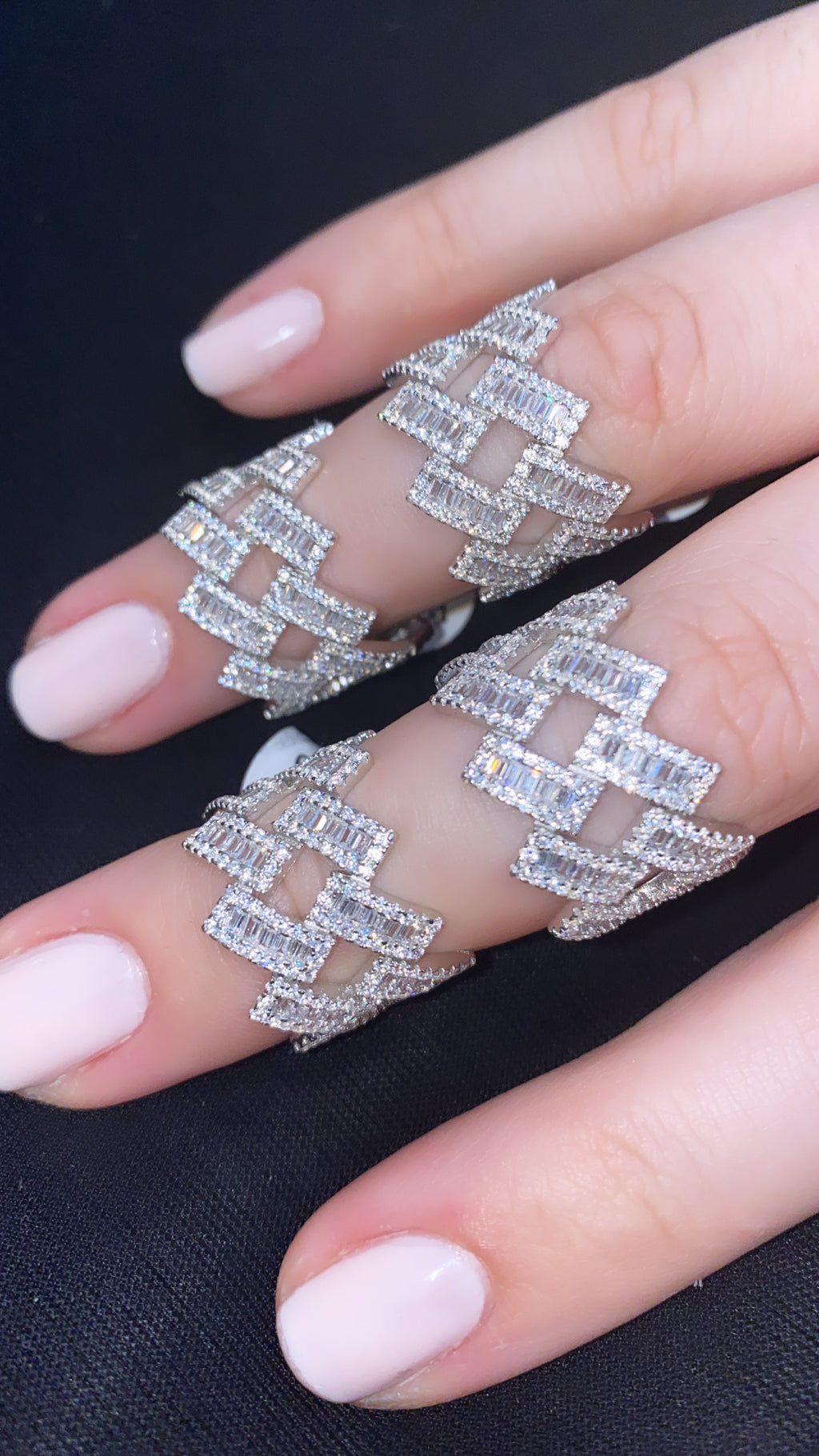 Double Row Baguette Ring
