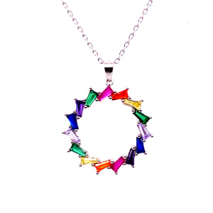 Multi Colored Circle Pendant