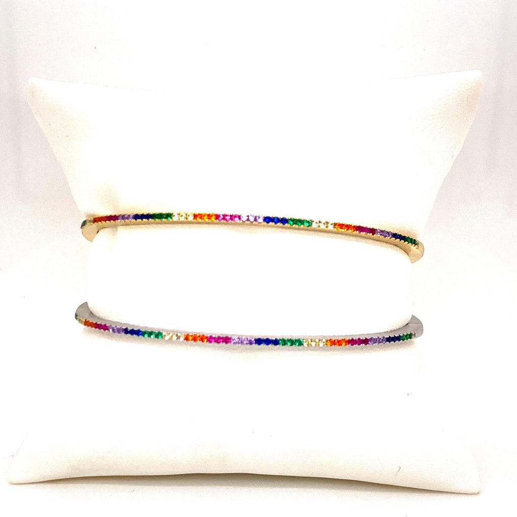 Thin Multicolor Bangle