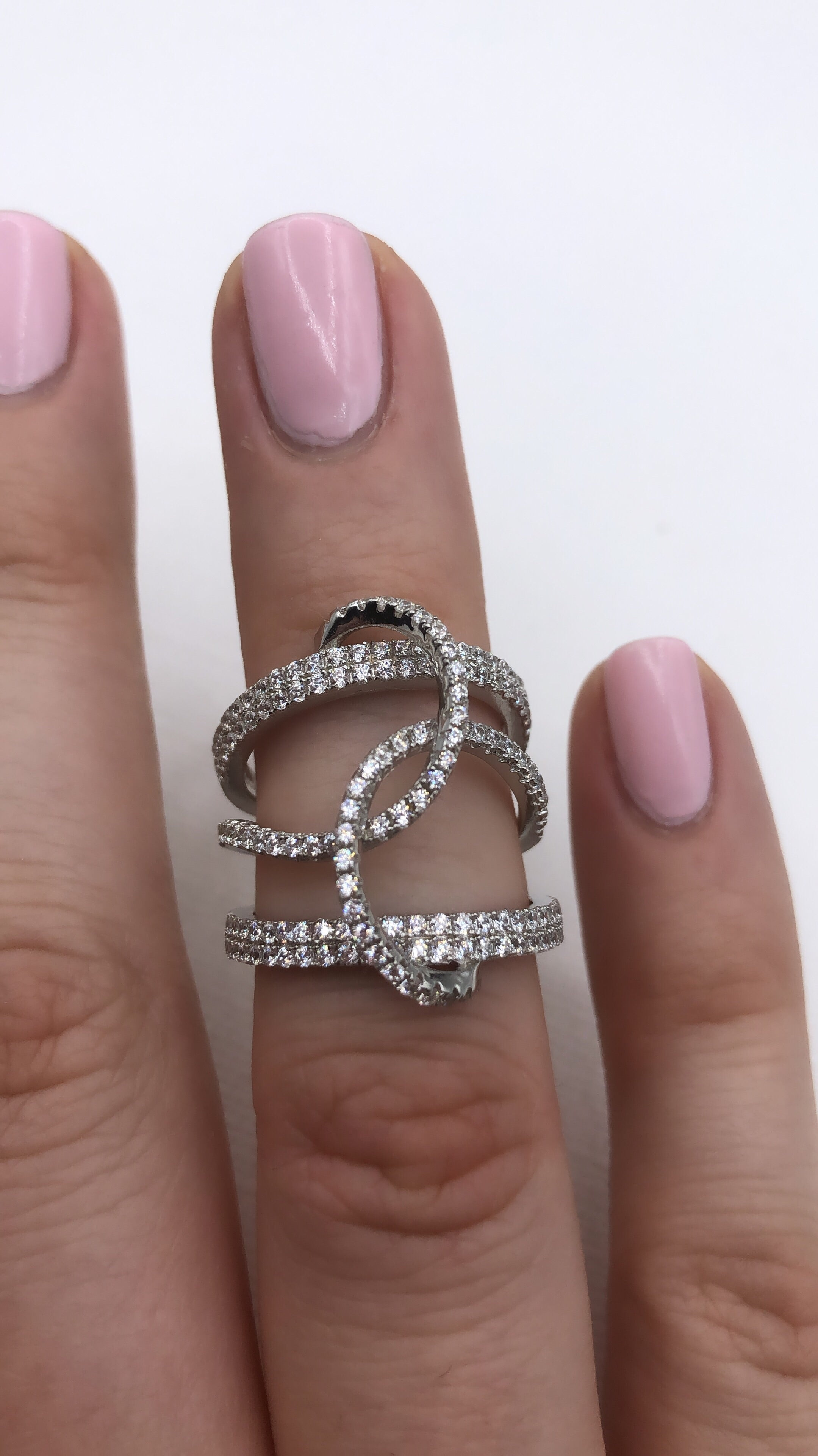Sterling Silver Intertwined Statement Ring