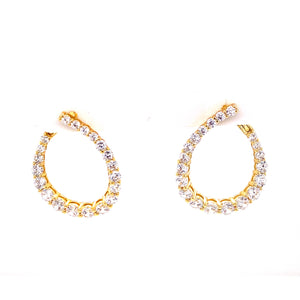 Medium Inner Outer Teardrop Earrings