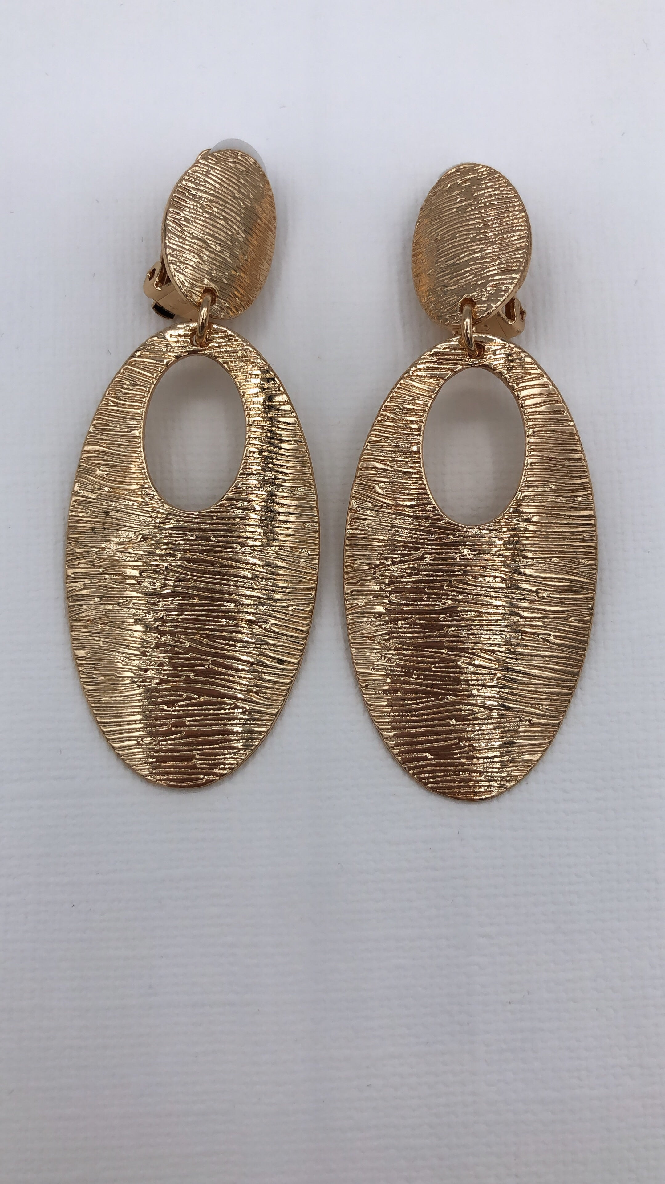 Clip On Teardrop Statement Earrings