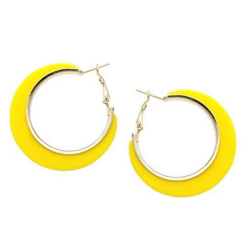 Flat Acetate Yellow Hoops