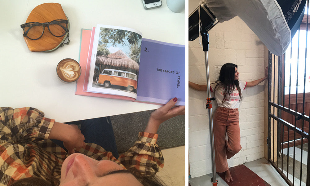 Behind the scenes pics of the making of the Roo's Beach AW18 Lookbook