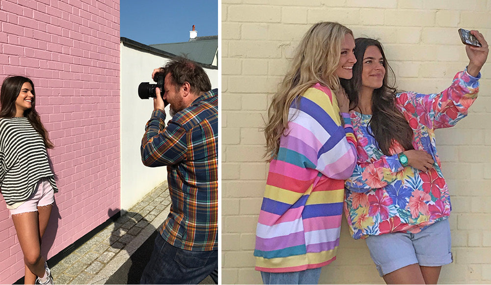 Behind the scenes of the Making of the Roo's Beach Summer Lookbook