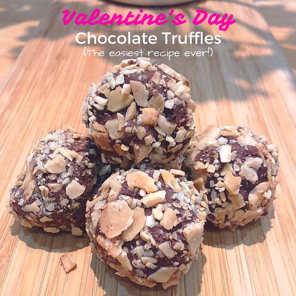 Valentine's day easy chocolate truffles