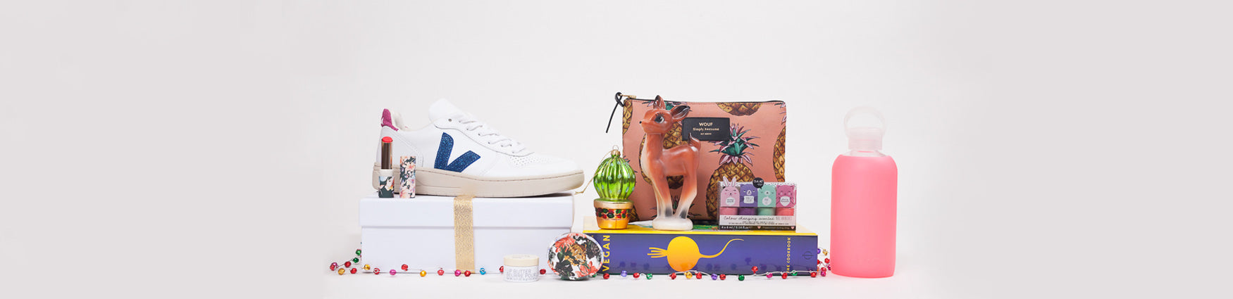 Colourful Christmas Gifts for Teens including Wouf, Bkr and Veja available from Roo's Beach UK