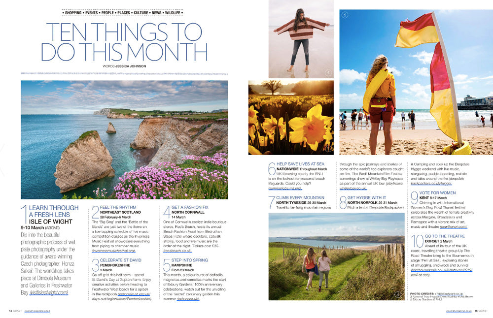 Coast Magazine March 2019 - inner spread