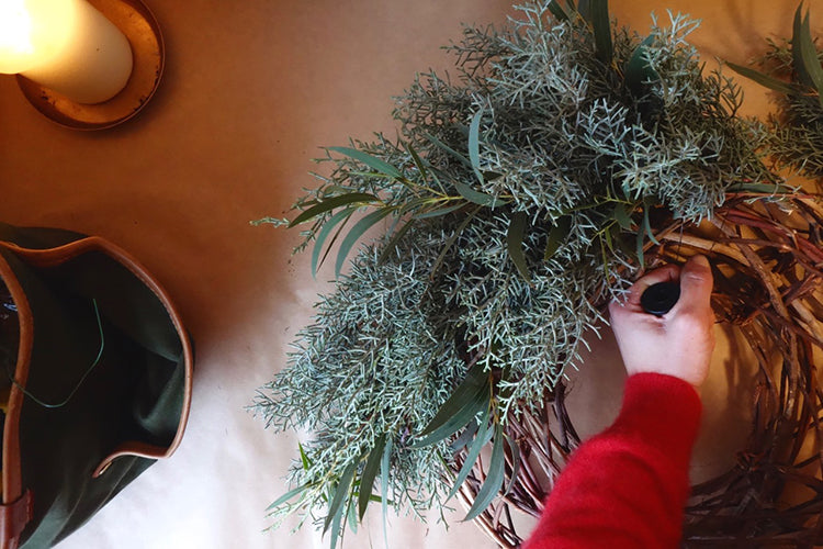 Christmas Wreath Making Workshop Cornwall