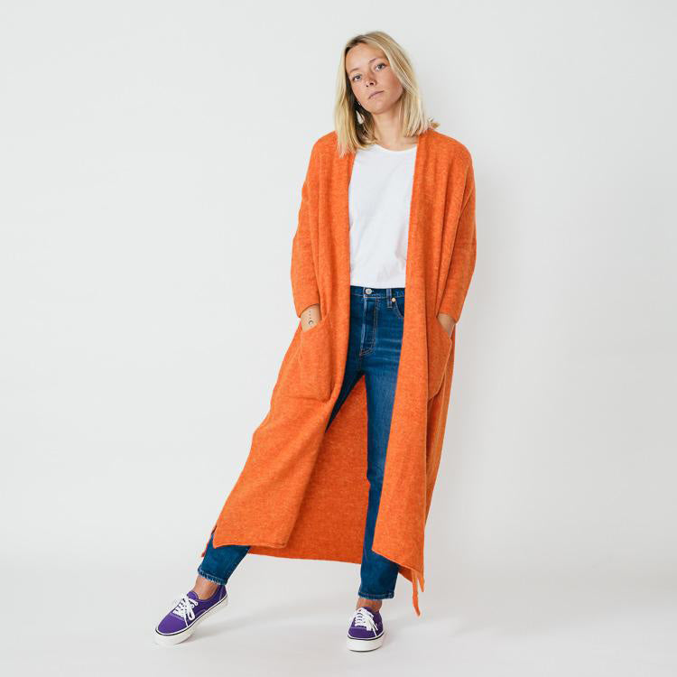 American Vintage Malawood Orange Long Cardigan