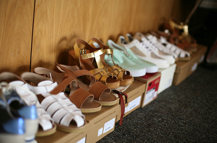 Behind the scenes snap shots of the Roo's Beach Fashion Feast event at The Bedruthan Hotel – The Footwear edit from Rose Rankin, Penelope Chilvers and Vans are lined up and ready to go