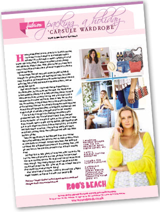 Packing A Holiday Capsule Wardrobe – Cornwall Today Magazine, July 2016